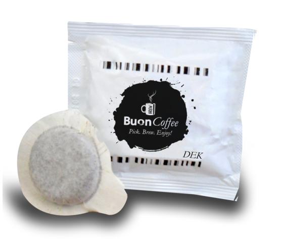 Caffe Espresso in Cialde 44mm DEK Buoncoffee 100Pz