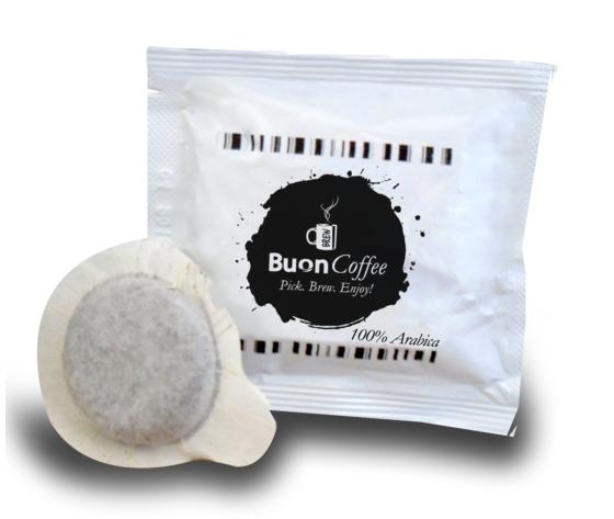 Caffe Espresso in Cialde 44mm 100% ARABICA Buoncoffee 100Pz
