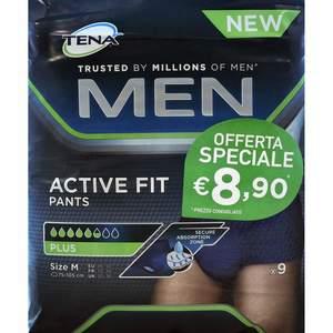 Tena Men Pants Active Fit Taglia M 9 Pezzi