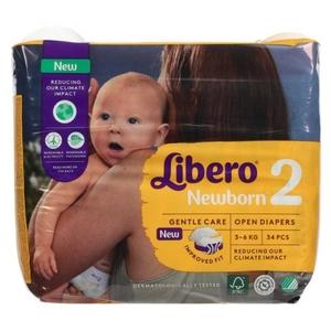 LIBERO mis.2 newborn 3-6kg 34 pannolini