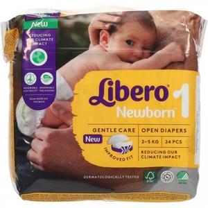 LIBERO mis.1 newborn 2-5kg 24 pannolini