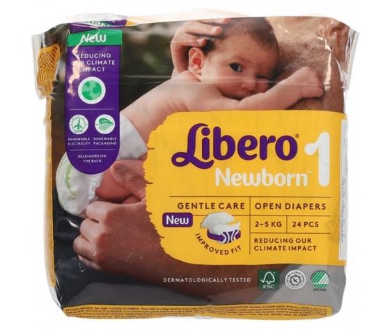 Libero mis1 newborn 2 5kg 24 pannolini