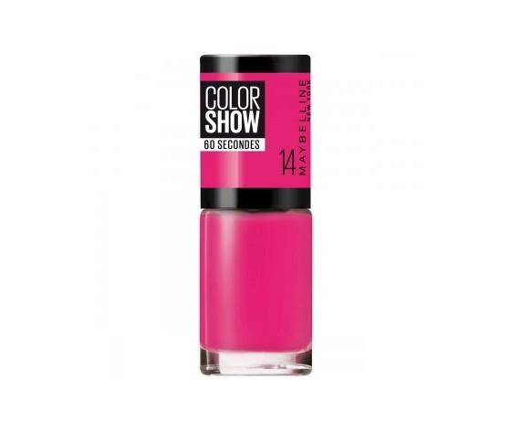 Maybelline new york smalto color show colore brillante asciugatura rapida 14 show time pink