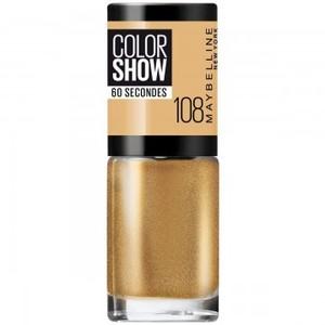 Maybelline New York Smalto Color Show, Colore Brillante, Asciugatura Rapida, 108 Golden Sand