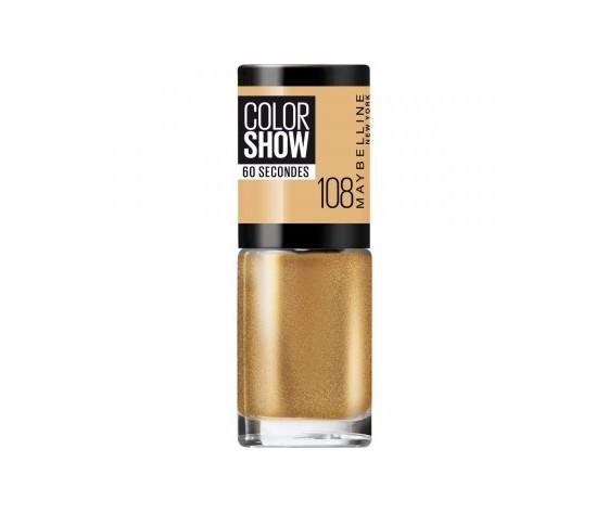Maybelline new york smalto color show colore brillante asciugatura rapida 108 golden sand