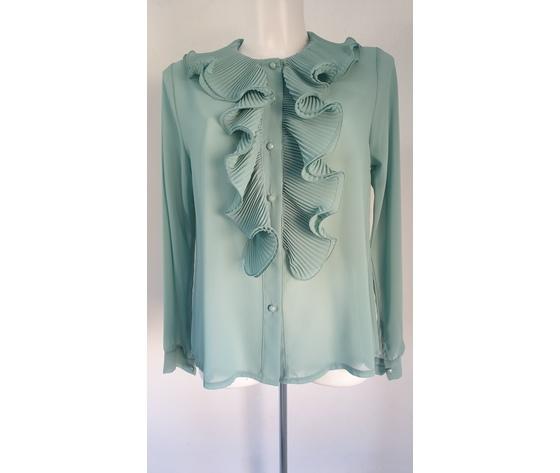 Camicia volant pliss%c3%a8 verde acqua 521 1