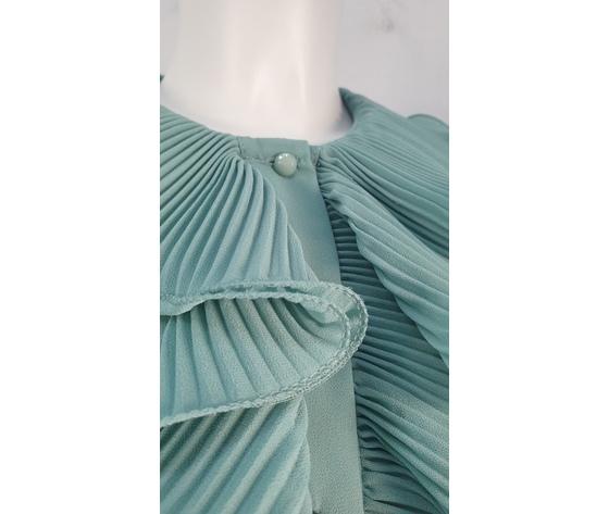 Camicia volant pliss%c3%a8 verde acqua 521 2