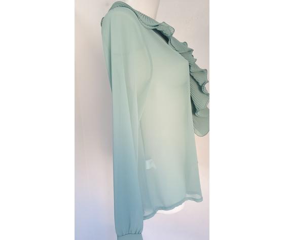 Camicia volant pliss%c3%a8 verde acqua 521 3
