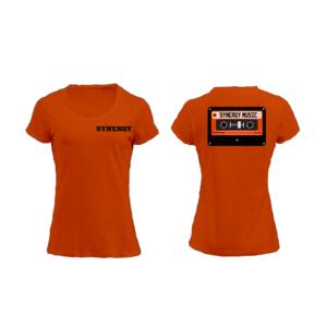 Maglia Donna Logo Synergy Music Arancio
