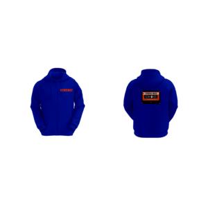 Felpa Basic con Cappuccio Uomo Logo Synergy Music Blue
