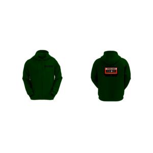 Felpa Basic con Cappuccio Uomo Logo Synergy Music Verde