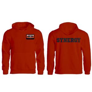 Felpa Zip con Cappuccio Uomo Logo Synergy Music Arancio