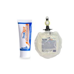 Protexsol Professional    Crema barriera protettiva per mani contro sostanze oleose e grasse.   Solubile in acqua. TUBO DA 100 ML