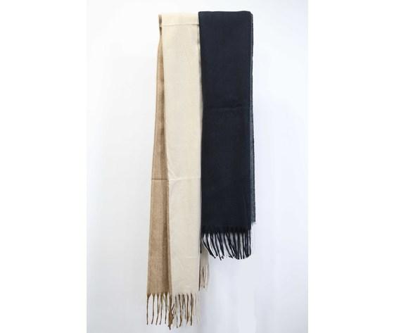 Sciarpa uomo lana pettinata bicolore nergri