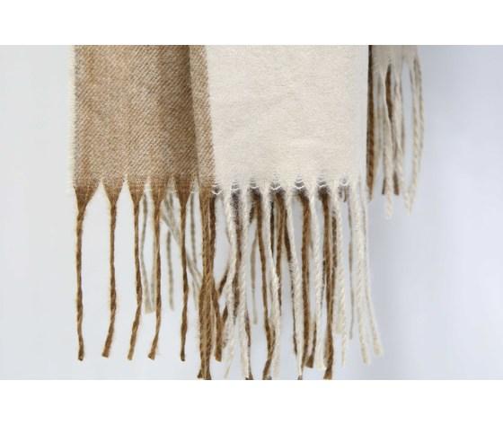 Sciarpa uomo lana pettinata bicolore beics