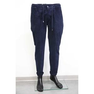 Pantalone t. america slim  con elastico velluto blu