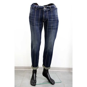 Jeans slim tasca america con stampa