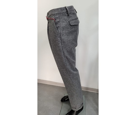 Pantalone fantasia nero 2