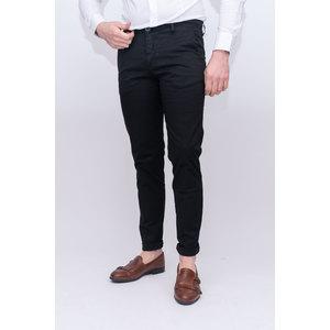 Pantalone tasca america slim tinta unita nero