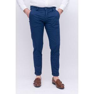 Pantalone tasca america slim tinta unita  indaco
