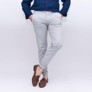 Pantalone tasca america slim tinta unita ghiaccio