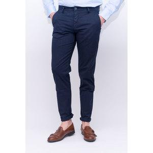 Pantalone tasca america slim tinta unita blu