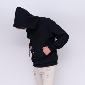 Felpa con cappuccio col.nero