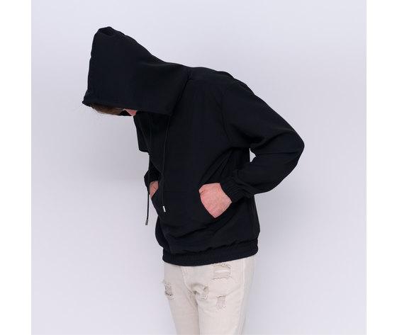34 cappuccio 6023 felpa nera