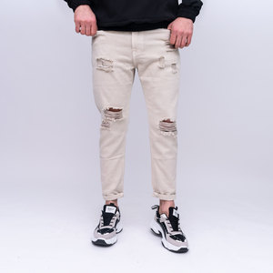 Pantalone 5 tasche con rotture
