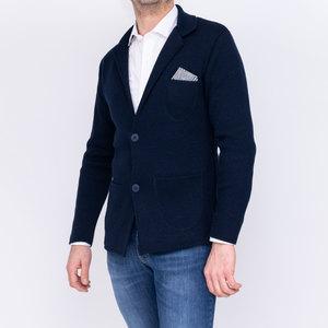 Cardigan con pochette taschino tasca top