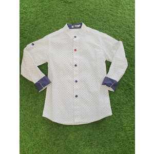 Camicia bianca-blu
