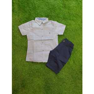 Camicia celeste-bianco