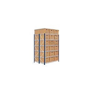 Scaffale archiviazione 64 scatole