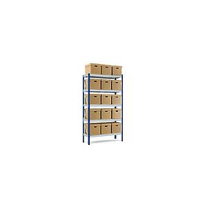 Scaffale archiviazione 16 scatole