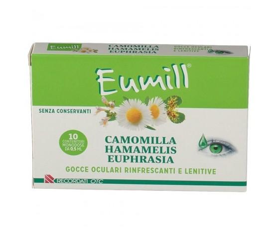 Eumill camomilla gocce oculari rinfrescanti e lenitive 10 contenitori monodose da 05 ml