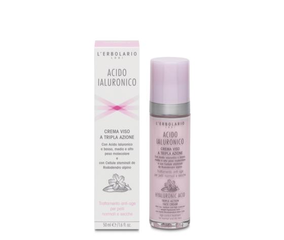 Crema viso per pelli normali e secche acido ialuronico