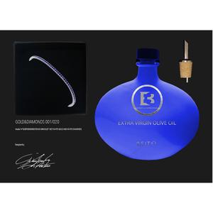 BRACCIALE TENNIS ORO 18CT E ZAFFIRI BLUE -1,1
