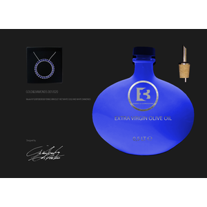 COLLANA ORO 18CT E ZAFFIRI BLUE -2,7