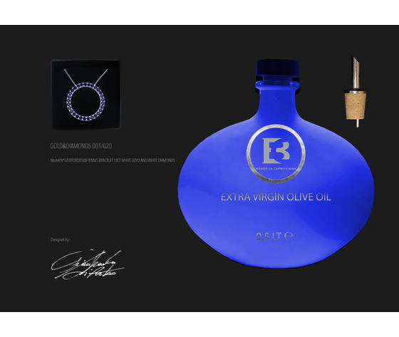 Gdcobzb500 collana oro bianco 18ct e zaffiri blue  1 1 2 7 3 7mm