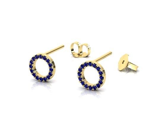 Or013 render 1 orecchini prospettiva 180719 yellow gold sapphire blue