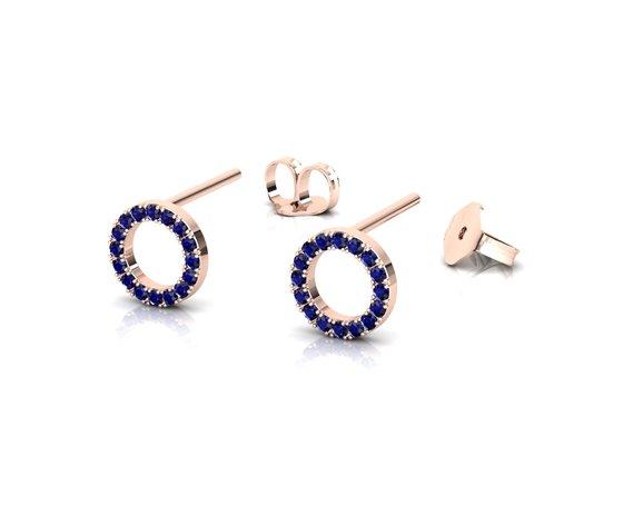 Or013 render 1 orecchini prospettiva 180719 rose gold sapphire blue