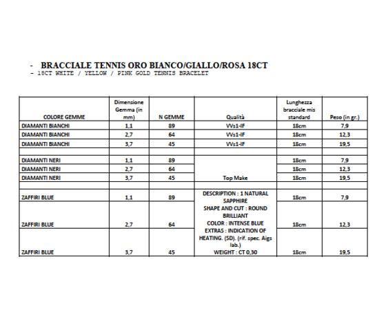 Bracciale tennis