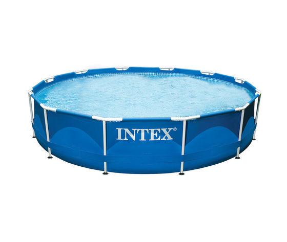Piscina fuoriterra rotonda con struttura acciaio 366x76 cm - Intex