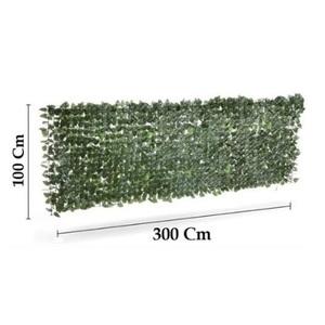 Siepe sintetica con foglie artificiali 1x3 mt