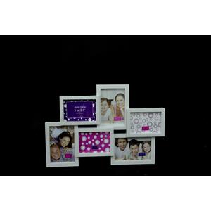 Portafoto in plastica Bianco rettangolare 6 posti - I&I