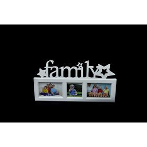 Portafoto in plastica Bianco rettangolare 3 posti FAMILY - I&I