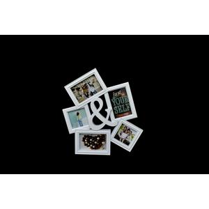 Portafoto in plastica Bianco & 5 posti - I&I