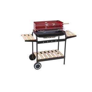 Barbecue con Ripiani in legno e Girarrosto - JARDINIA