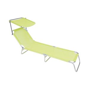 Lettino in Alluminio Reclinabile con Prendisole Verde - ENRICO COVERI MARE