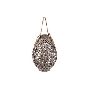 Lanterna Legno Naturale Goccia ⌀34xH72cm - Jardinia
